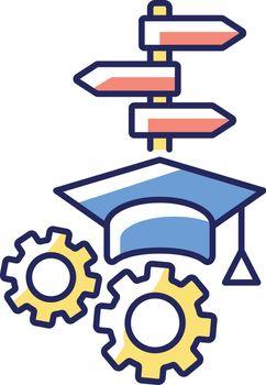 College major RGB color icon
