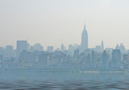 Fantasy New York Skyline