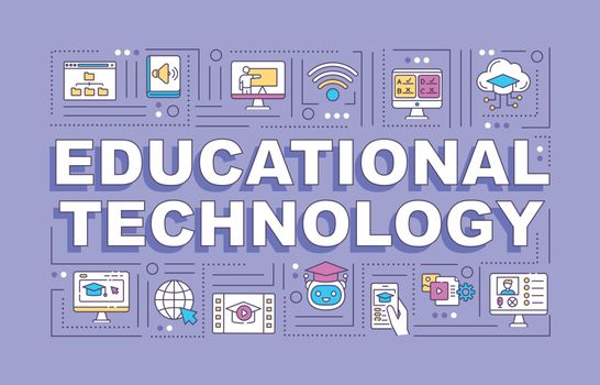 Educational technology word concepts banner