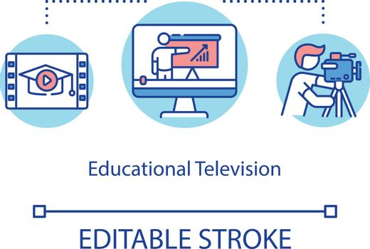 Educational television concept icon