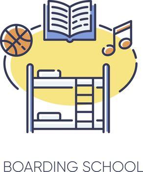 Boarding school RGB color icon