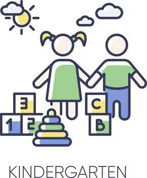 Kindergarten RGB color icon