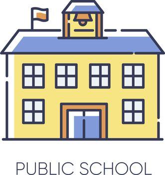 Public school RGB color icon