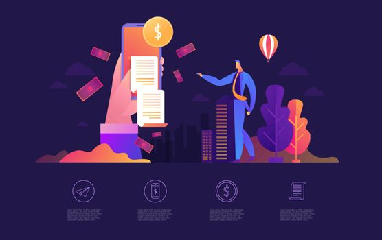 We re hiring join our team Online Recruitment vector illustration concept, woman and men apply cv, reviewing candidates can use for landing page.