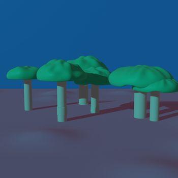 Close-up of a cartoon mushroom on a pastel background - 3d rendering. Volumetric illustration. Background for a postcard, desktop, billboard, announcement