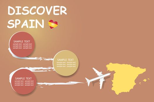 Discover Spain template vector