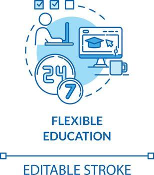 Flexible education concept icon