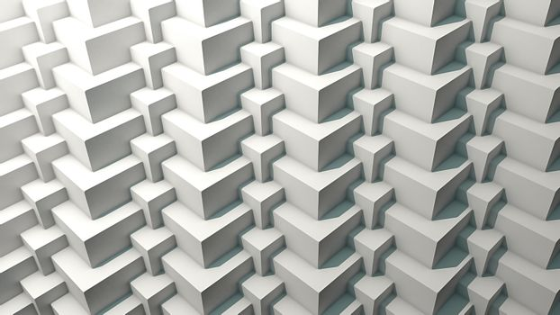 3D cube pattern with shadows. 3D Rendering