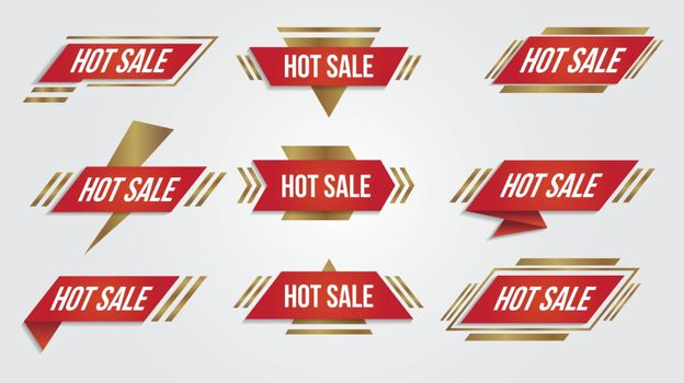 Sale discount lebel collection banner and icons corners, labels, curls and tabs.Shopping tags new collection offers isolated.