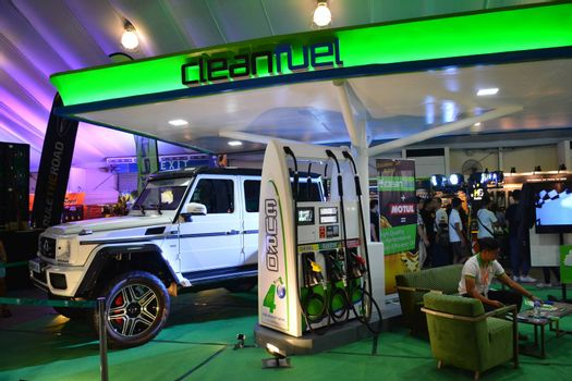 PASAY, PH - APR 7 - Clean fuel booth at Manila International Auto Show on April 7, 2019 in Pasay, Philippines.