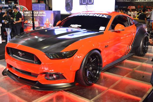 PASAY, PH - MAY 25 - Ford mustang at 25th Trans Sport Show on May 25, 2019 in Pasay, Philippines.