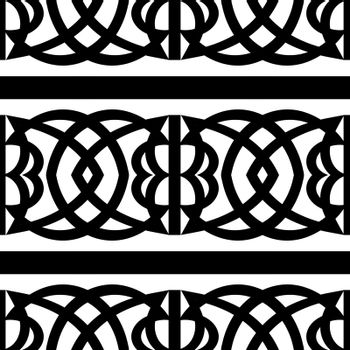seamless folk ornament pattern in ancient scandinavian or celtic style