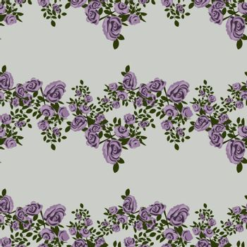 tender and delicate lilac seamless pattern with beautiful purple roses