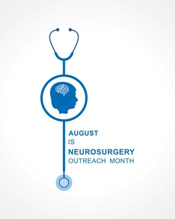 Vector Illustration of Neurosurgery Outreach Month observed in August