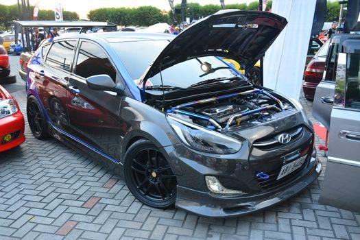 Hyundai Accent Hatchback at Bumper to Bumper 15 car show