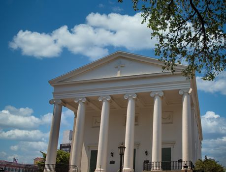 Christ Church in Savannah, Georgia with Columns