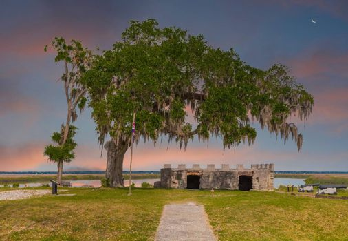 Remnants of Fort Frederica which the British used to defend against the Spanish in Pre-Colonial United States