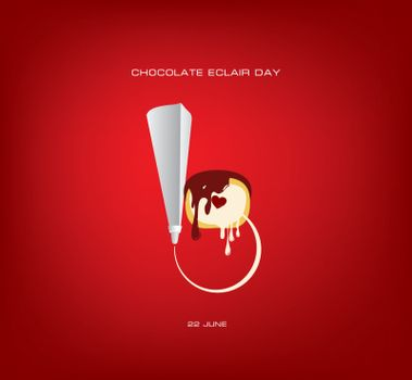 Classic culinary bag for cream and eclair - Holiday chocolate eclair day