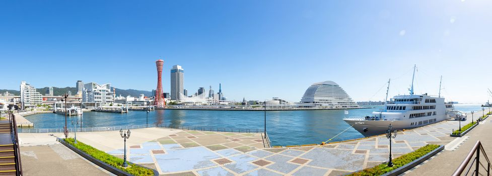 Panorama of Landmark tower in Kobe, Japan