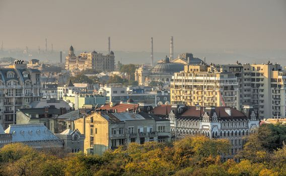Odessa, Ukraine 03.08.2020. Top view of the historic center of Odessa, Ukraine, on a sunny spring day