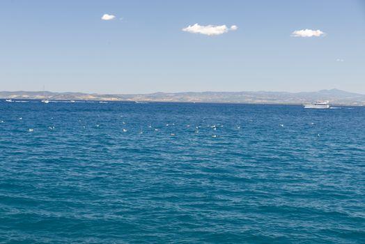 sea landscape in porto santo stefano