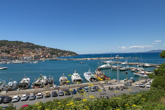 landscape of Porto Santo Stefano harbor
