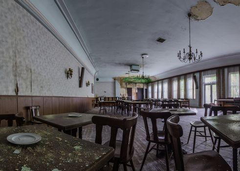 large event room in an old inn