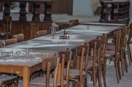 tables in a restaurant detail view