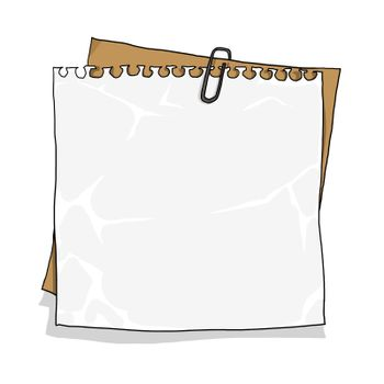 notebook paper on  cardboard background