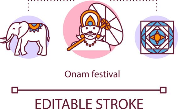 Onam festival concept icon