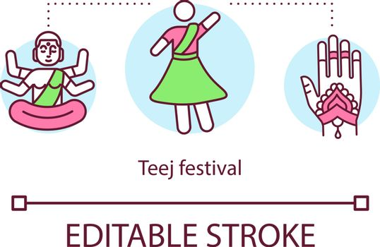 Teej Festival concept icon