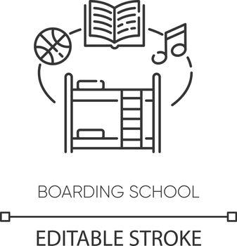 Boarding school pixel perfect linear icon