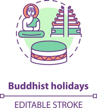Buddhist holidays concept icon