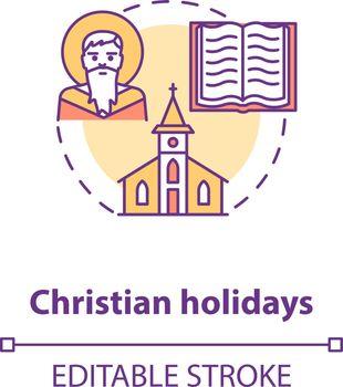Christian holidays concept icon