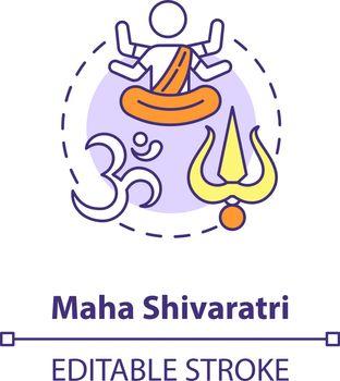 Maha shivaratri concept icon