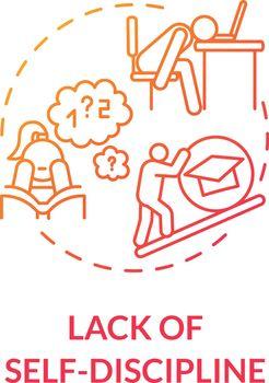 Lack of self discipline concept icon