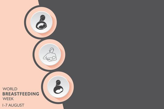 Vector Illustration for the concept of World Breast feeding Week observed in first week of August Month