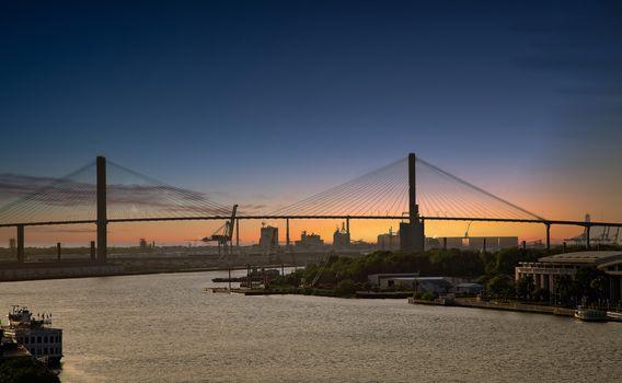 The Sydney Lanier Bridge across the Savannah River