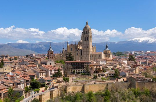 The old town of Segovia and the Cathedral, Segovia, Spain