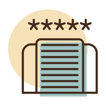 Five star hotel vector icon. Graph symbol for travel and tourism web site and apps design, logo, app, UI