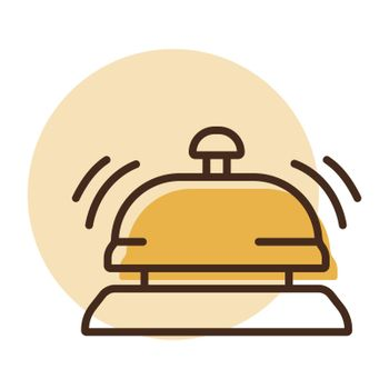 Counter bell, hotel, service vector icon. Graph symbol for travel and tourism web site and apps design, logo, app, UI