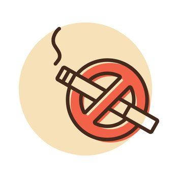 No smoking sign vector icon. Graph symbol for web site and apps design, logo, app, UI
