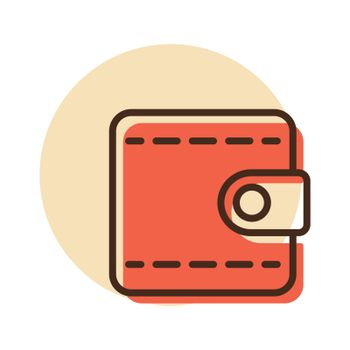 Billfold wallet isolated vector icon. Graph symbol for web site and apps design, logo, app, UI