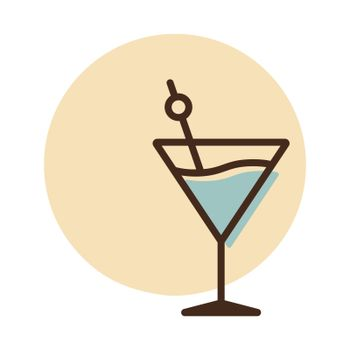 Cocktail drink glass icon vector. Graph symbol for bar and cafe web site and apps design, logo, app, UI