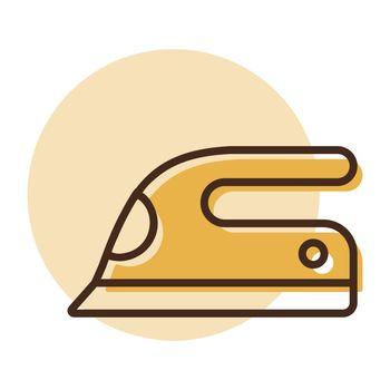 Steam iron flat vector icon