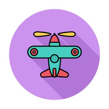 Airplane toy icon. Flat vector related icon for web and mobile applications. It can be used as - logo, pictogram, icon, infographic element. Vector Illustration.