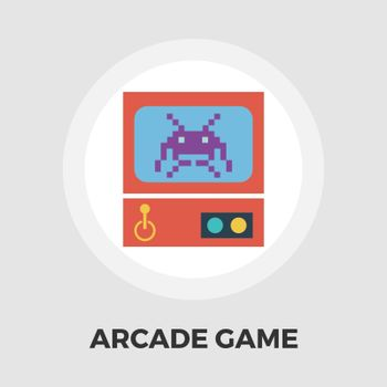 Retro Arcade Machine flat icon