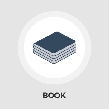 Book Icon Vector. Flat icon isolated on the white background. Editable EPS file. Vector illustration.
