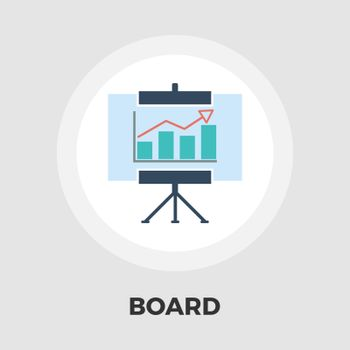 Board icon vector. Flat icon isolated on the white background. Editable EPS file. Vector illustration.