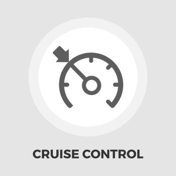 Cruise control icon vector. Flat icon isolated on the white background. Editable EPS file. Vector illustration.